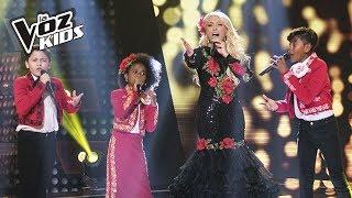 Yuri Azuquitar Steven Lucas y Brayan cantaron Cucurrucuc Paloma  La Voz Kids Colombia 2018