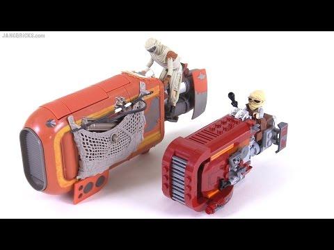 Lego Vs Hasbro Star Wars Force Awakens Reys Speeder Comparison