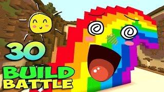 ч.30 Minecraft Build Battle - Радуга и Кактус