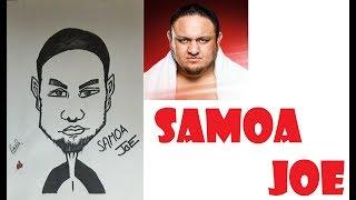 How To Draw a Caricature of Samoa Joe