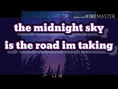 Midnight sky road