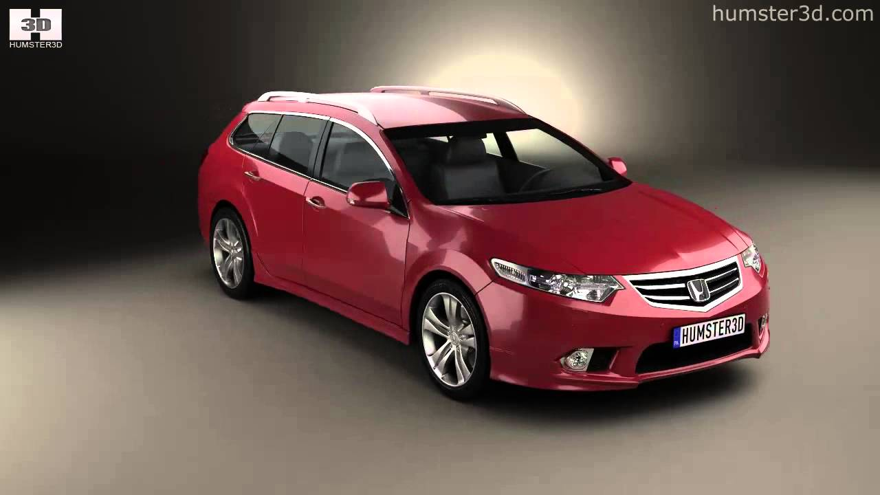 honda accord cw tourer type s 2011 by 3d model store youtube. Black Bedroom Furniture Sets. Home Design Ideas