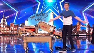 Britain's Got Talent 2019 15-Year Old Dan Rhodes Saws Amanda in Half Full Audition S13E07