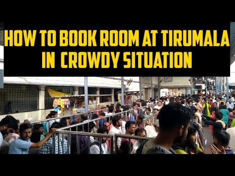 Ep.8 Room Booking Crowd At CR Office Near Tirupati Balaji Temple Tirumala I Marathi