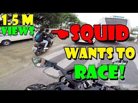 SQUID WANTS TO RACE | KTM RC 390 | STREET RACE