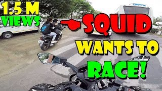 SQUID WANTS TO RACE | KTM RC 390 | STREET RACE