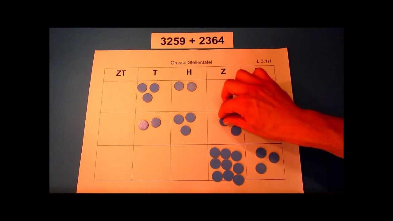Welche Zahlen Kleiner Als 1000 Kannst Du Mit 4 Plättchen Legen