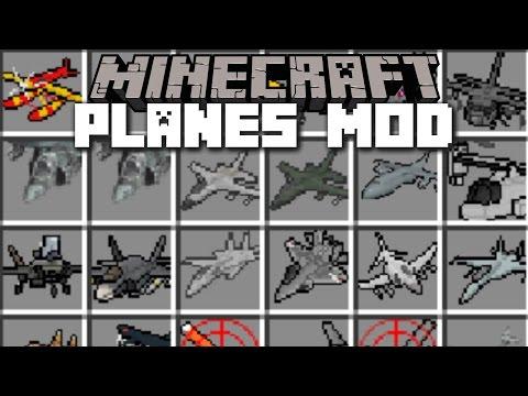 Minecraft PLANE MOD / FLY HELICOPTER, PLANE & TANK!! Minecraft