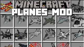 Minecraft PLANE MOD / FLY HELICOPTER, PLANE & TANK!! Minecraft