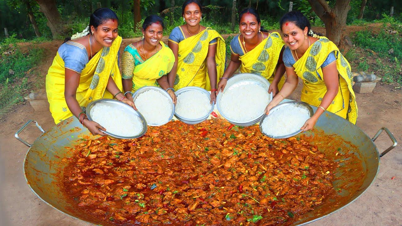 ERODE SPECIAL NALLAMPATTI COUNTRY CHICKEN FRY l Traditional Village Chicken Fry Recipe VILLAGE BABYS