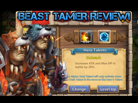 Castle Clash: 9/10 Lvl 180 Evolved Beast Tamer Review!