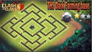 Th9 Dark farming base|Th9 farming base|Th9 dark protection base|Best th9 farming base