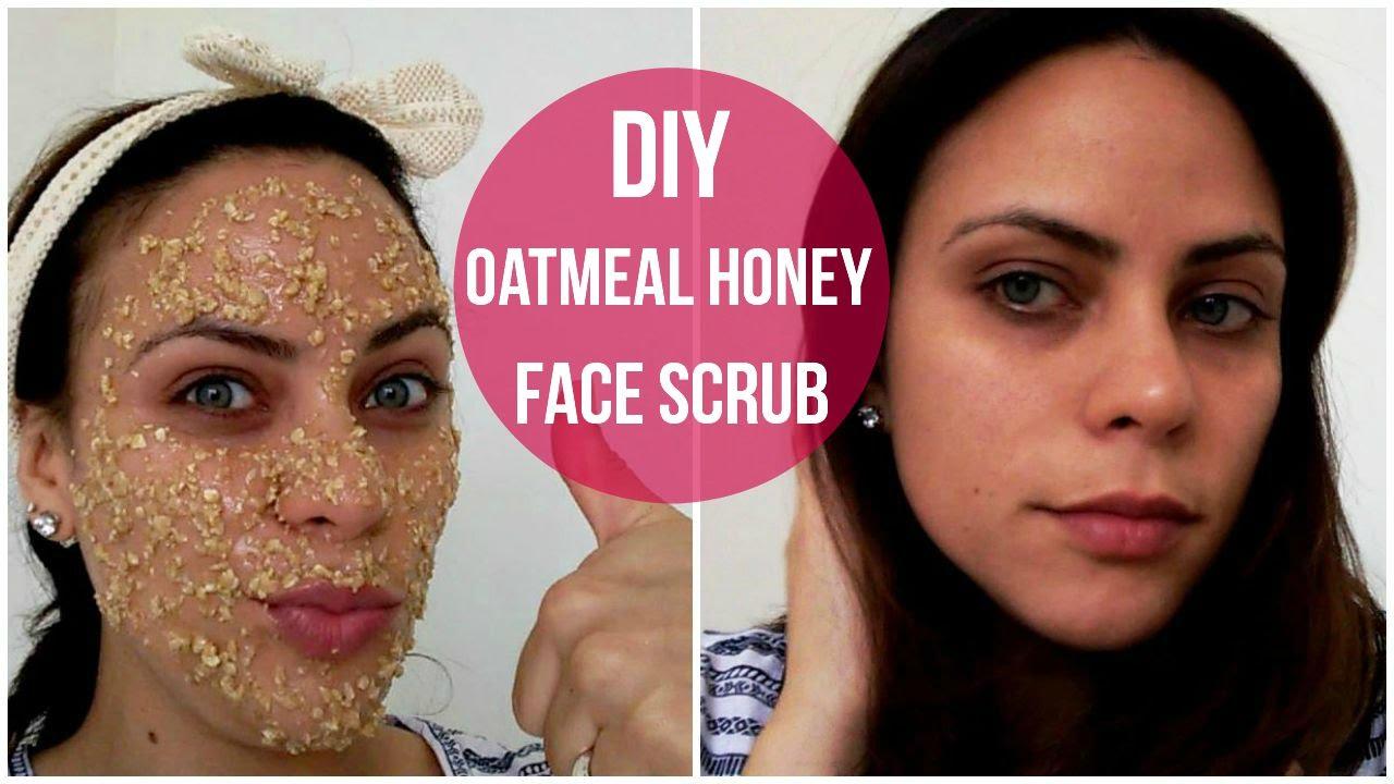 DIY Oatmeal Honey Face Scrub - YouTube