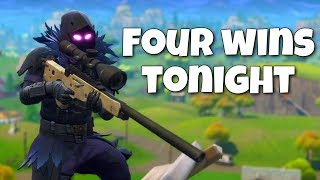 Four Wins Tonight! (Fortnite PC Gameplay Stream)