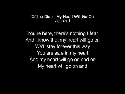 Jessie J - My Heart Will Go On Lyrics ( Céline Dion ) The Singer 2018