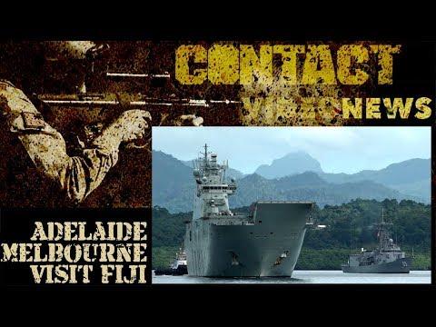 HMA Ships Adelaide And Melbourne Visit Fiji