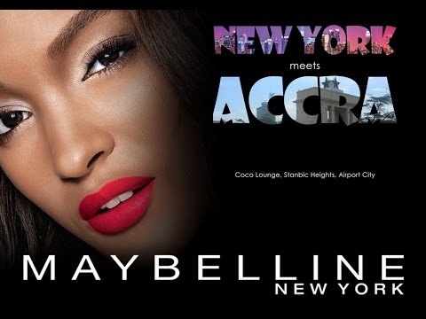 Launch of Maybelline New York in Ghana - HD 720p