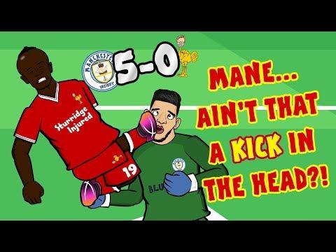 🔴MANE RED CARD🔴 Man City vs Liverpool 5-0 (Parody Goals Highlights 2017)