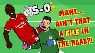 🔴MANE RED CARD🔴 Man City vs Liverpool 5-0 (Parody Goals Highlights 2017)