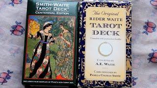 Deck comparison: Centennial versus Original Rider Waite Smith