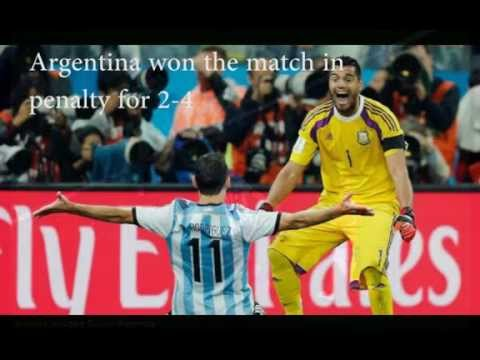 Holland vs Argentina (2-4) fifa world cup 2014 semifinals match highlights