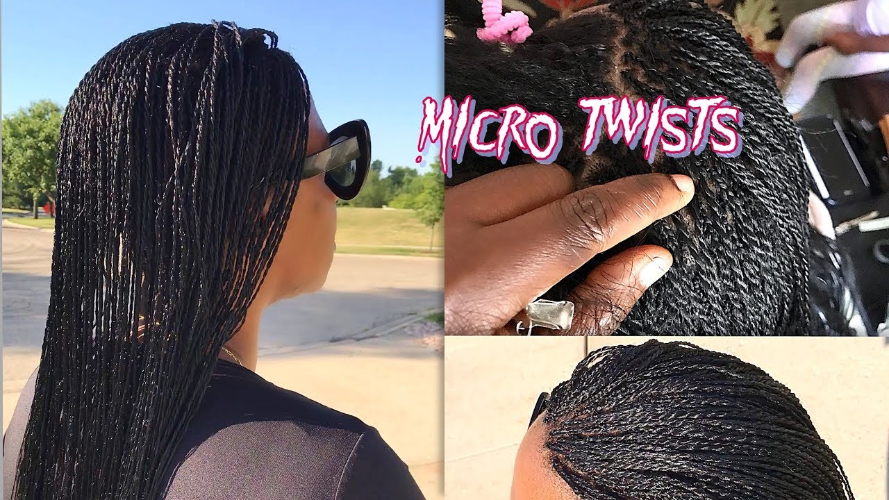 Micro Senegalese Twists Tutorial