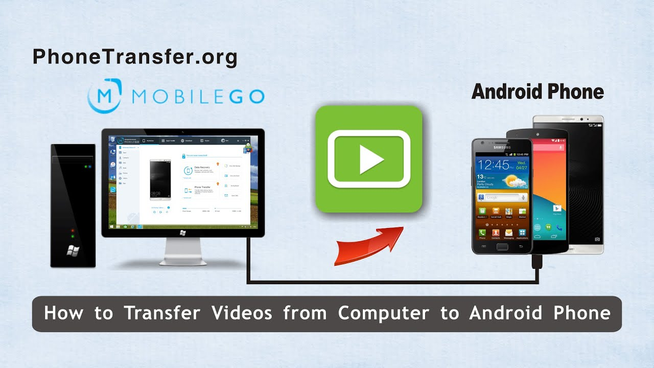 How To Transfer Videos From Computer To Android Phone Import Movies To Android From Pc Youtube