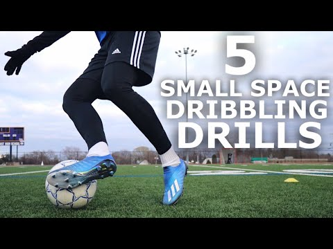 5 Dribbling Drills You Can Do At Home | Small Space Dribbling Training Session