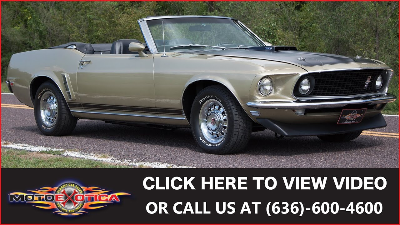 1969 Ford Mustang Convertible Sold Youtube