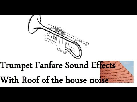 Trumpet Fanfare Sound Effects All sounds With Roof of the house noise
