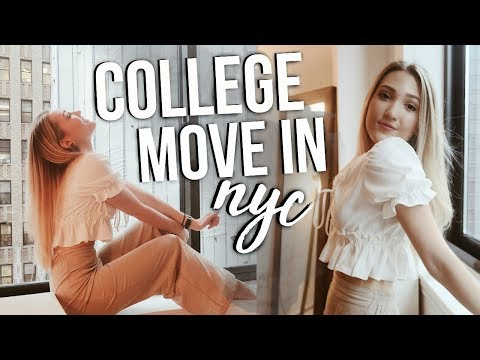 COLLEGE MOVE IN VLOG NYC! Moving to NYC Senior Year of College!