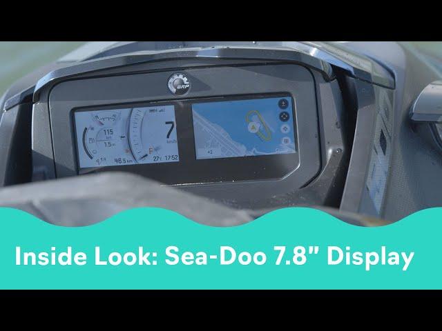 2022 Sea-Doo Inside Look: 7.8-Inch Color Display