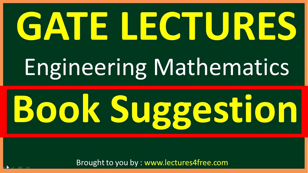 Books Suggestion of Engineeering Mathematics for GATE - YouTube