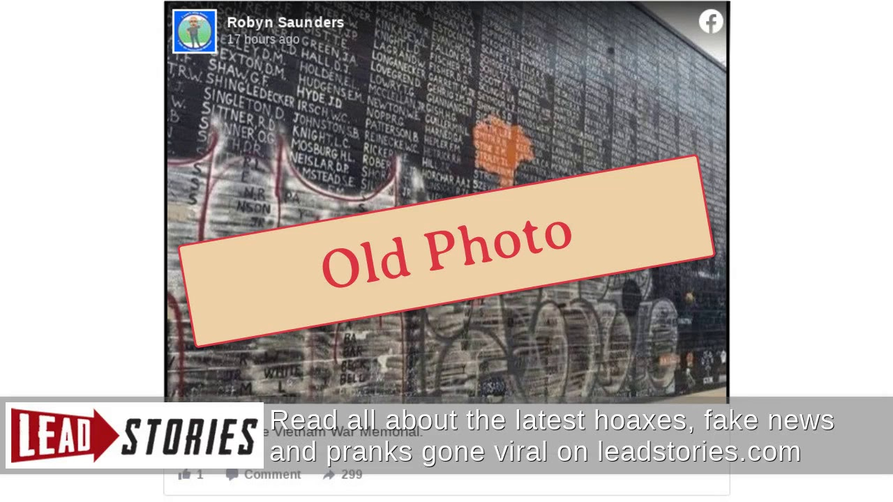 Vietnam Veterans Memorial was not vandalized, and other fact-checks
