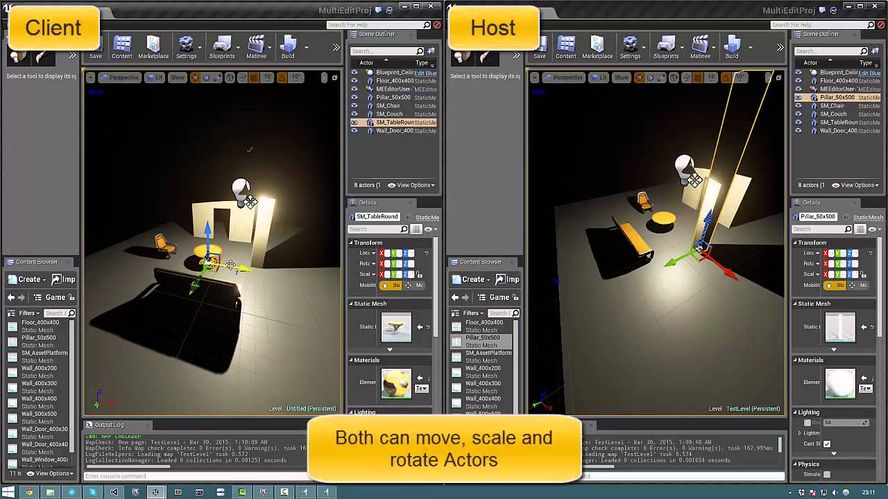 MultiEdit Plugin 0 2 - Unreal Engine 4 - Collaborative Level Editing