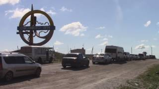 На границе с Казахстаном образовалась огромная пробка