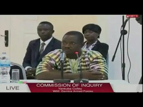 Yankuba Colley Of W02 Gambia Armed Forces Testifies At The Commission Of Enquiry