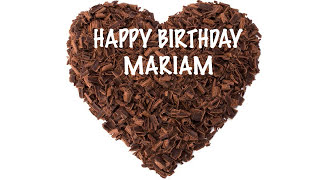 Mariam  Chocolate - Happy Birthday