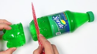 How to Make a Sprite Soda Gummy Bottle Shape!
