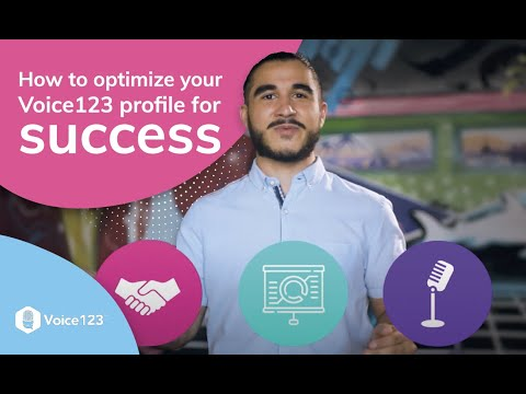 How to optimize your Voice123 profiles for success with Voice123's SEO Engineer Andrés Zuleta