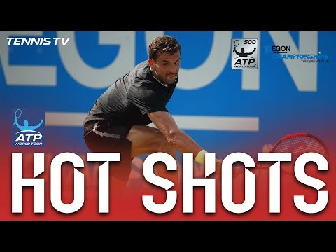Hot Shot: Dimitrov Sends Backhand Lob Sailing Queens 2017