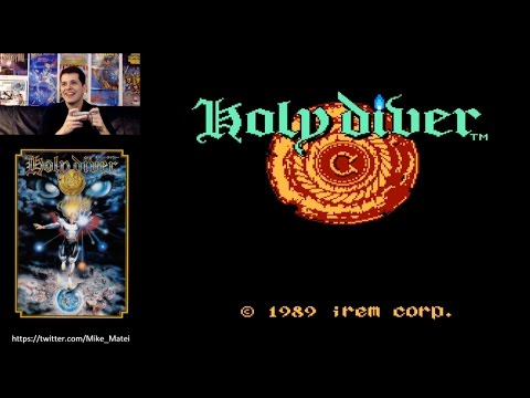 Holy Diver (Famicom) Full Playthrough with Mike Matei