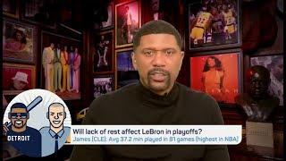 Jalen: LeBron playing 82 is 'terrific, amazing, wonderful' accomplishment | Jalen & Jacoby | ESPN