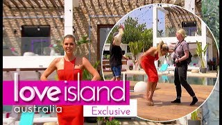 Sophie Monk attacked by flying creature. Hilarious outtake from Love Island