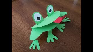 DIY Crafts for Kids - How to Make a Funny Frog out of Paper Sheet + Tutorial !