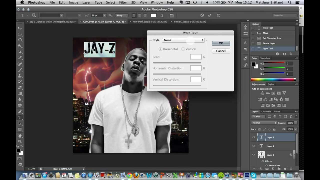 Photoshop Album Cover Tutorial 3: The text tool