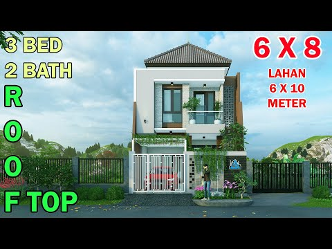 split-level-house-6x8-meter-3-bedroom-2+1-bathroom-mushola-rooftop-di-lahan-6x10-meter
