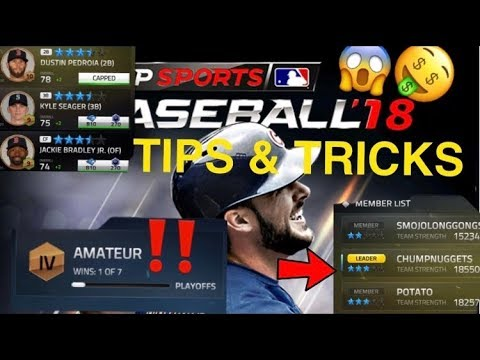 TAP BASEBALL 2018 TIPS AND TRICKS! HOW TO MAKE YOUR TEAM BETTER FAST! HOW TO LEVEL UP FAST!