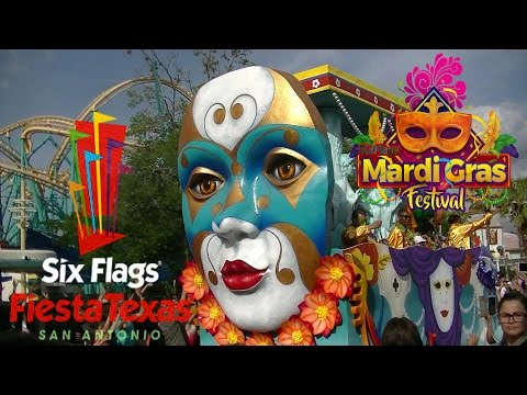 Full Mardi Gras Parade from Six Flags Fiesta Texas 2017