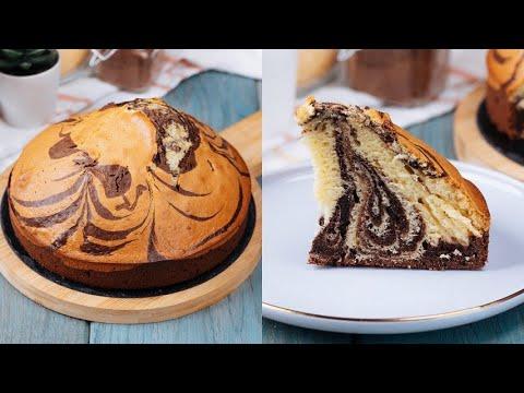 Zebra cake ready in 5 minutes